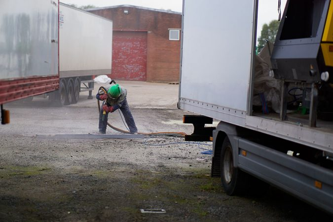 Mobile onsite sandblasting services