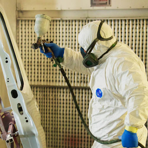Spray booth commercial vehicle repairs north manchester