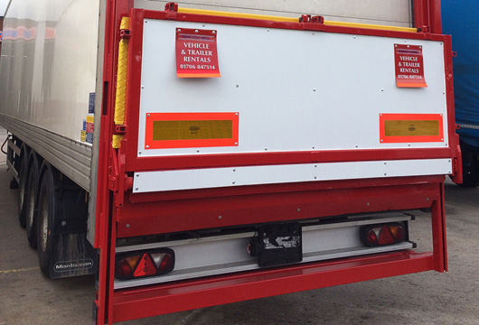 Taillift Box Trailer Rental Howarth Brothers Manchester