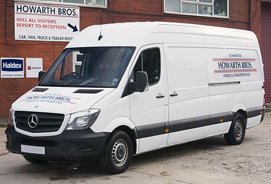 long wheelbase rental van manchester