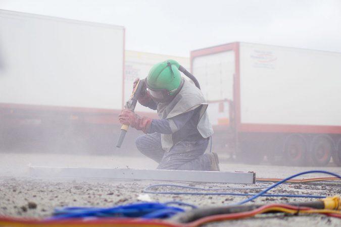 onsite sandblasting services
